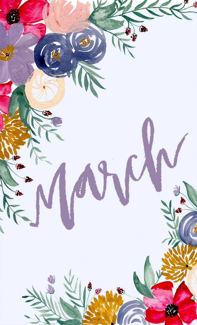 HELLO MARCH : MONTHLY DESKTOP DOWNLOAD (Shannon Kirsten Studio)