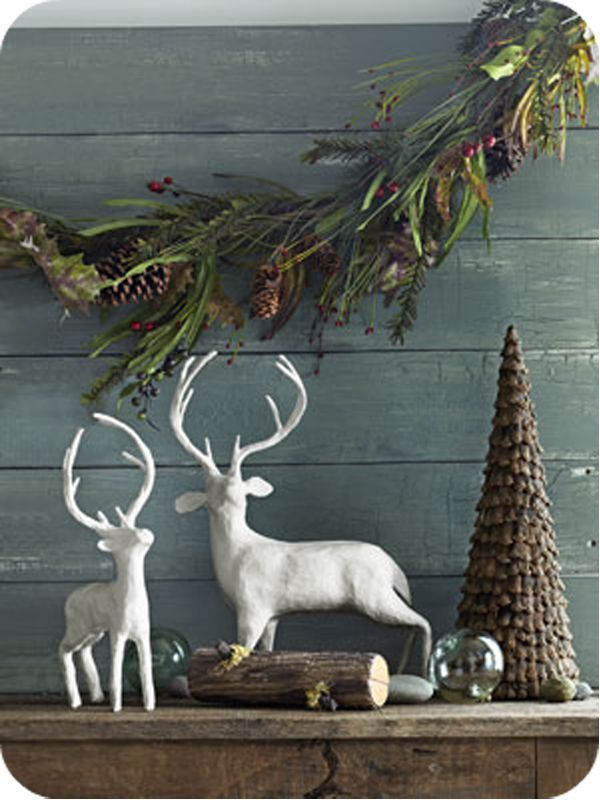 white deer decor - White Deer Christmas Decoration