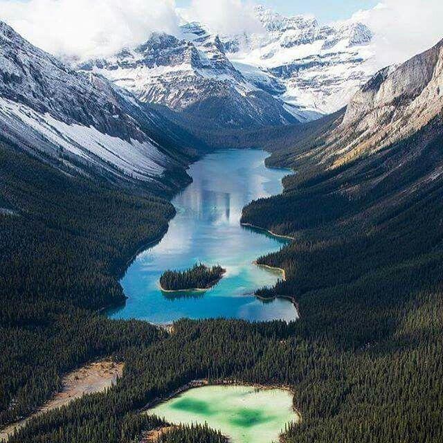 Best Places Hike World: Marvel Lake Banff National Park.