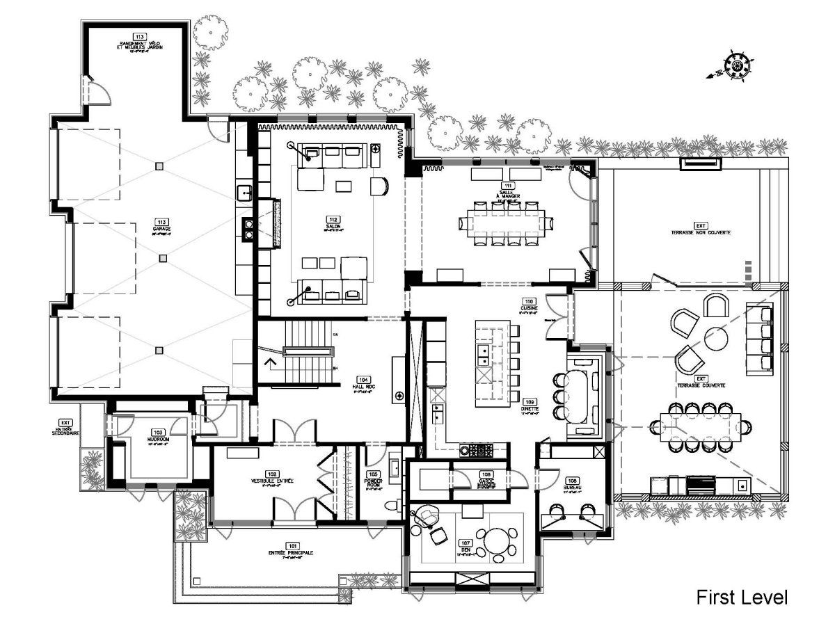 Floor plan maison du bois by gestion ren desjardins for Home site plan