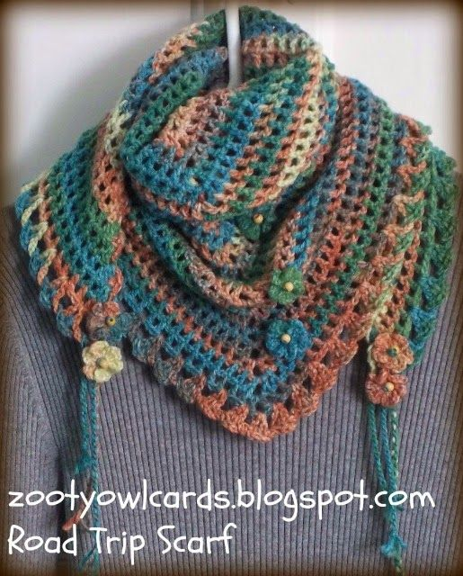 Road Trip Scarf Free Crochet Pattern Too I Love This When Thinking