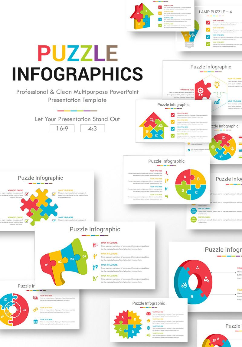 Powerpoint Vorlage Namens Puzzle Infographics 76643 Powerpoint Presentation Powerpoint Templates Business Powerpoint Templates