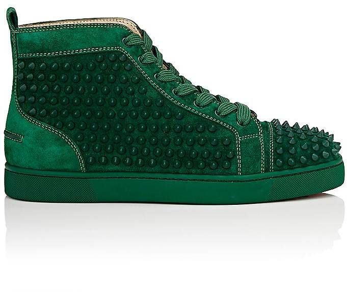 watch 24fbb b8009 Christian Louboutin Men's Louis Flat Suede Sneakers ...