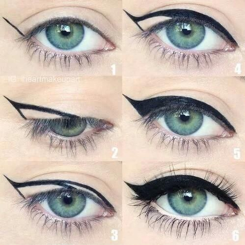 delinear olho de gato Dicas de makes e cabelos Pinterest