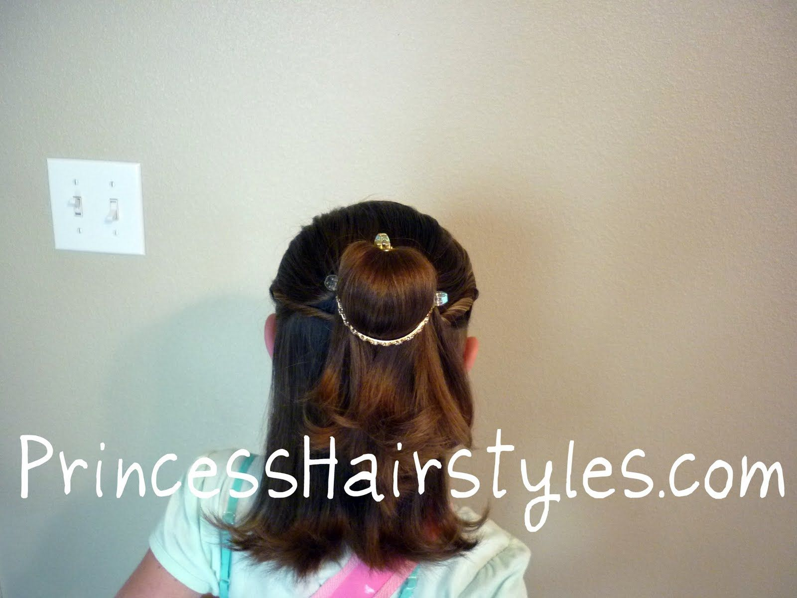 Belle Hairstyle For Short Hair Hairstyles For Girls Belle Hairstyle Princess Hairstyles Girl Hairstyles
