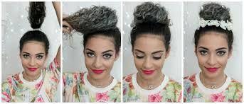 Resultado de imagem para penteado cabelo cacheado dia a dia