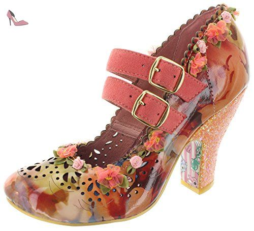 Irregular Choice Juicy Jewels, Damen T-Spangen Sandalen, Pink (Pink), 39 EU (6 UK)