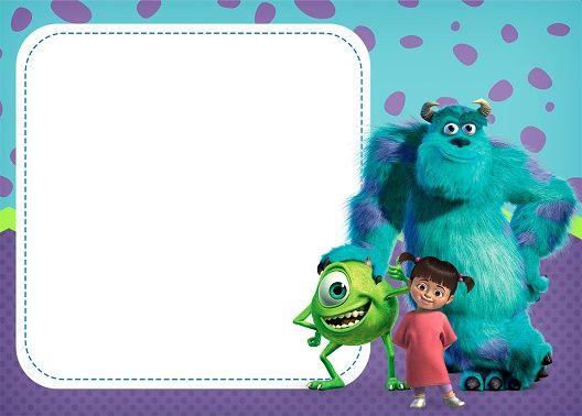 Mi Barquito Monsters Inc Invitations Monster Inc Party Monster Inc Birthday