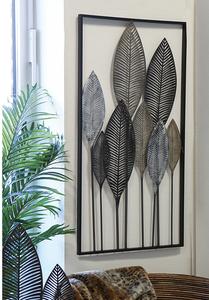Wanddecoratie Metaal Bladeren Zwart Bruin Decoratieve Muren Doe Het Zelf Wanddecoraties Woonkamer Wanddecoratie
