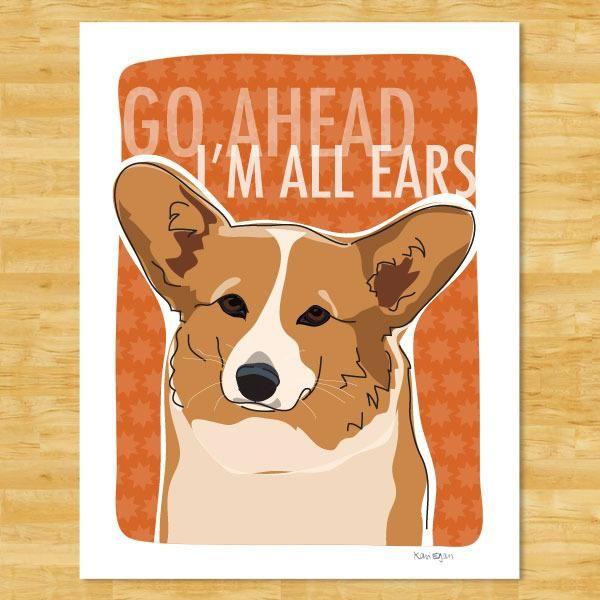 Corgi Art Print Corgi Art Corgi Art Print Dog Pop Art