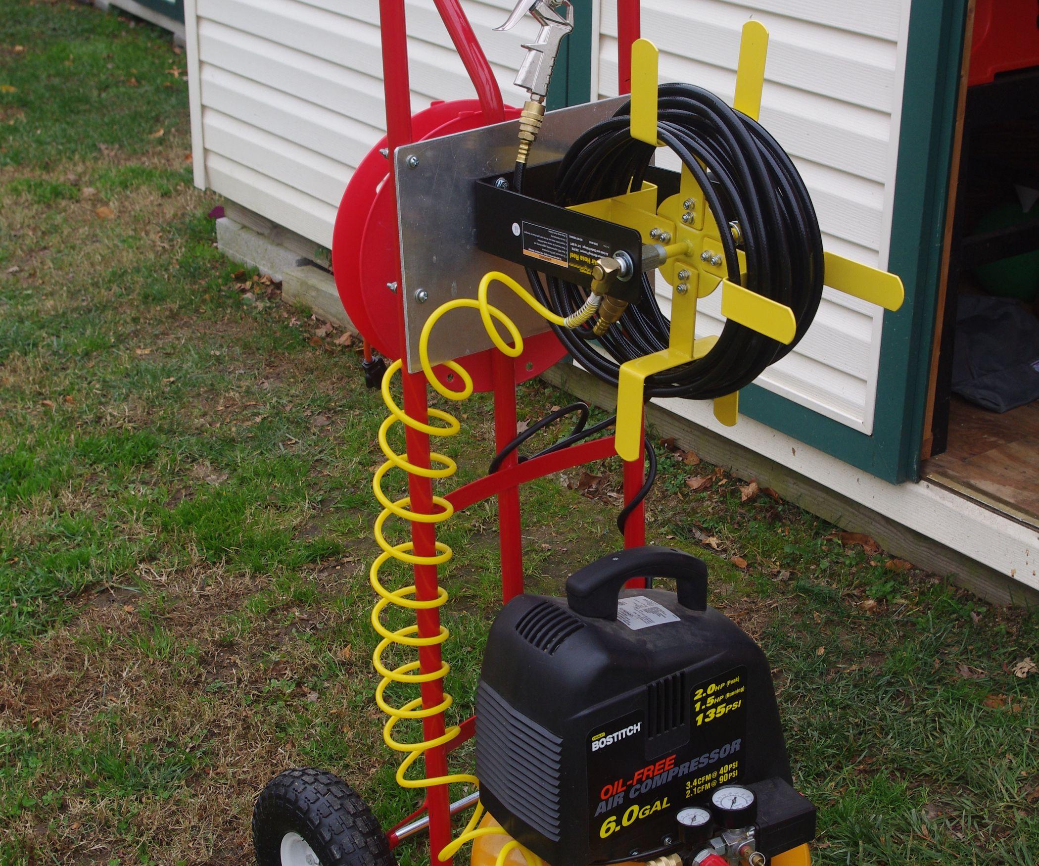 Mobile Compressor Cart for Under 50 Garage storage