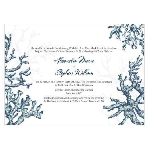 Reef Coral Invitation Navy Blue (24)