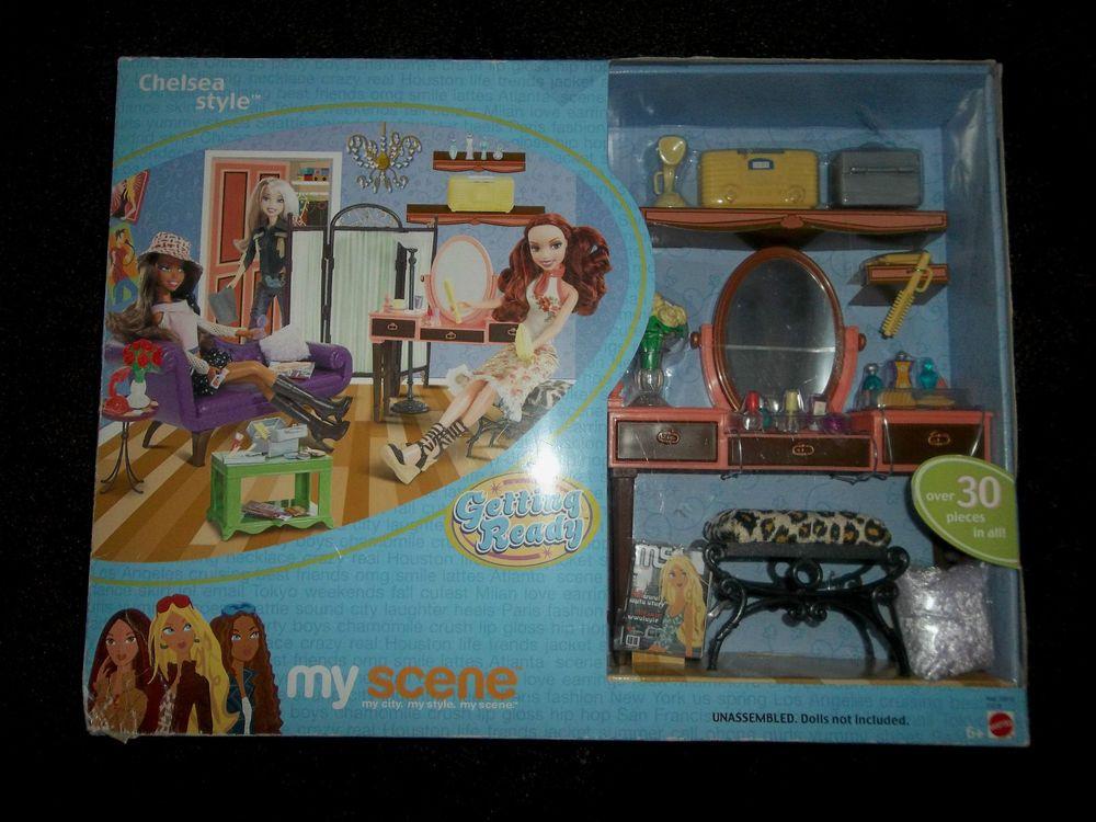 Nib Nrfb Mattel 2003 Barbie My Scene Chelsea Style Getting