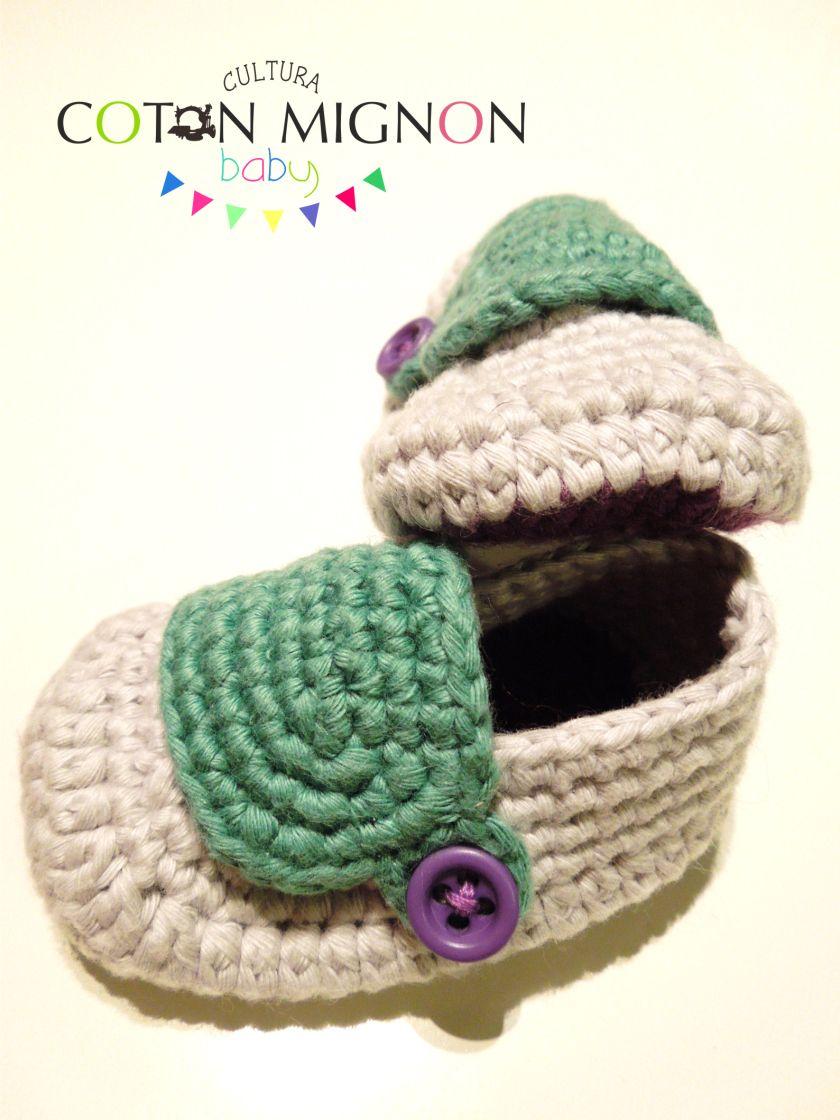 Zapatito bebé crochet culturacotonmignon