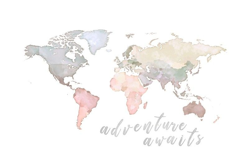 'World Map Adventure Awaits' Poster by AP Collection ...