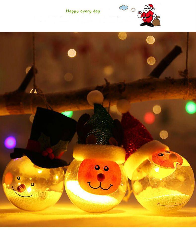 Warm White LED Transparent Ball Light Christmas Tree Hanging