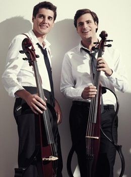 Croatian cello artists Luka Sulic and Stjepan Hauser of 2