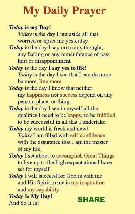 Daily Prayer | Words of Encouragement | Daily prayer, Prayer