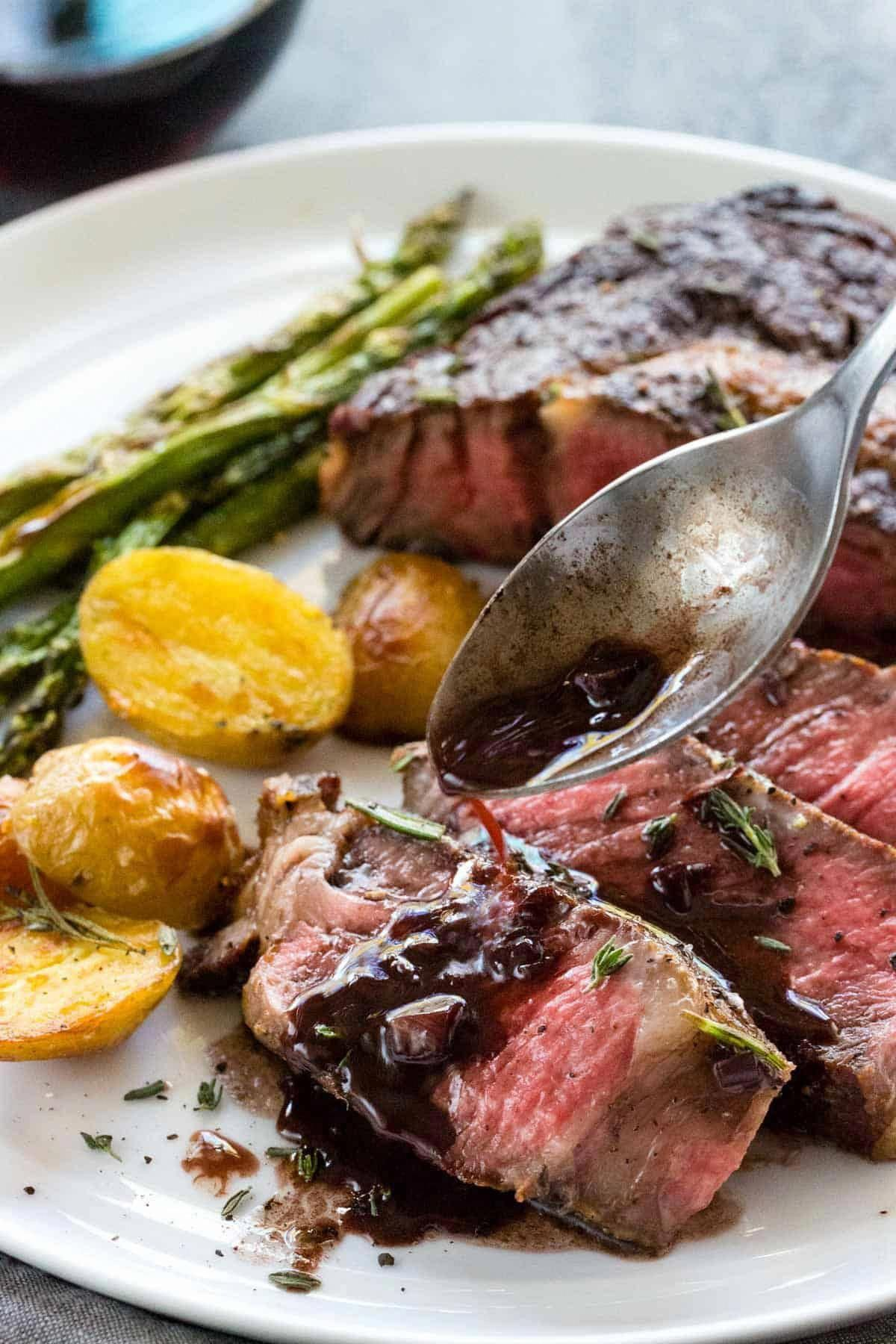 Ribeye Steaks with Red Wine Sauce   Recipe   Red wine ...