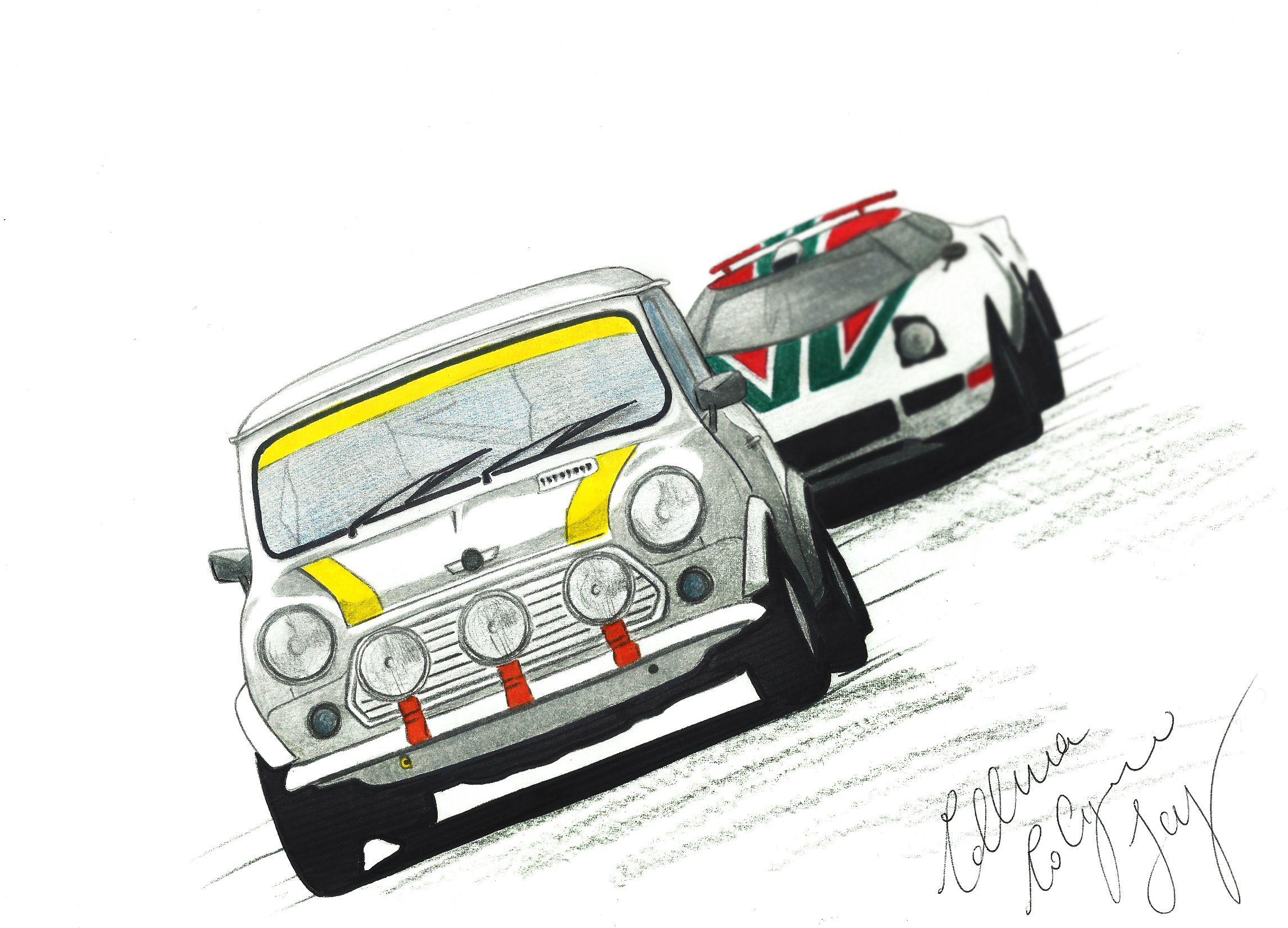 #SketchCar #Mini #miniclassic #minirally #rally #rallye #competition #rallycompetition #sport #sportrally #smallcar #sportacar #smallrally #fastcar #minirover #vintagecar #car #oldcar #sketch #Collurasketch