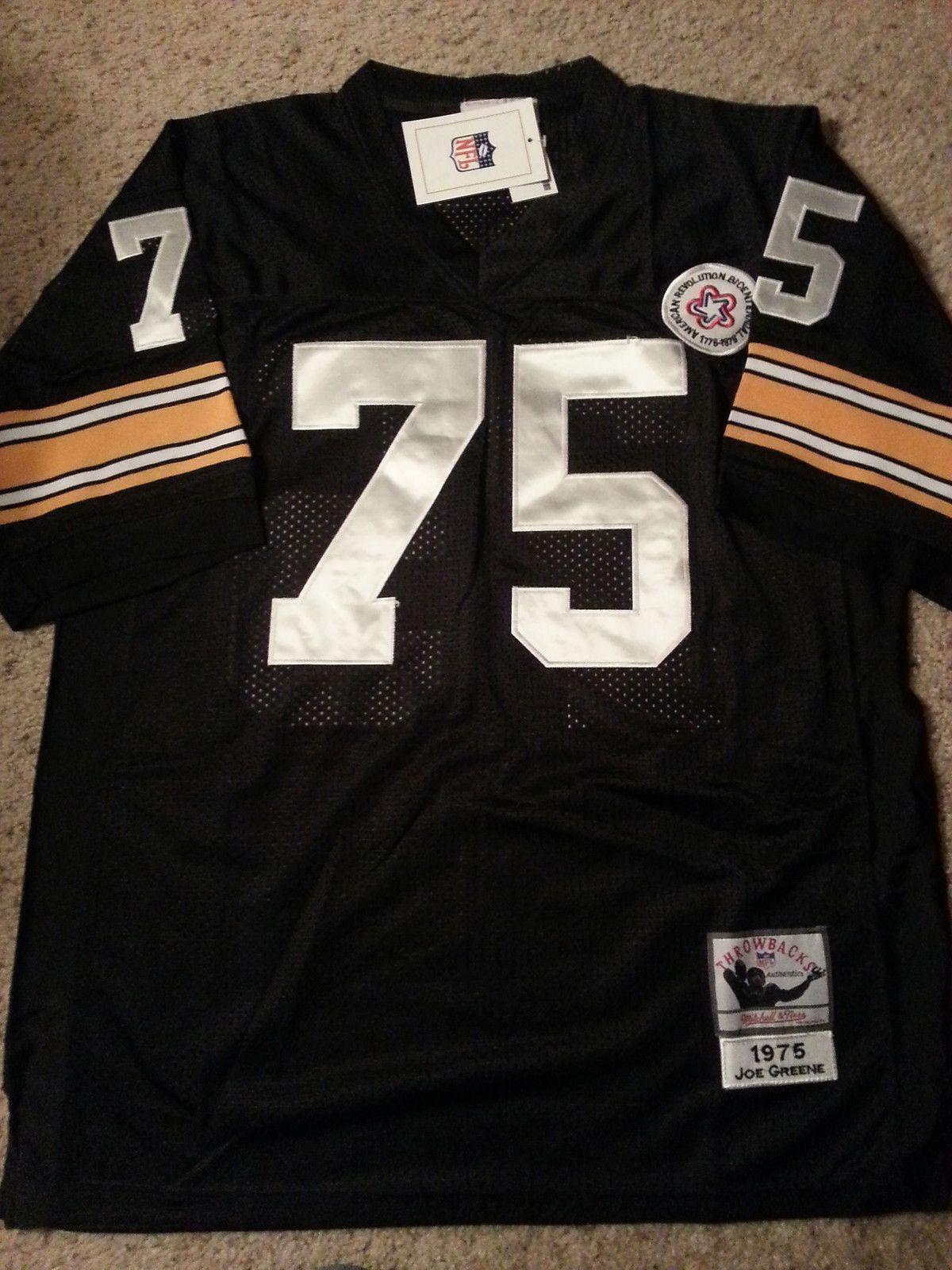 Joe Greene 1975 Throwback Jersey Size 52 Xl Sewn Stitched Steelers Joe Greene Throwback Steelers