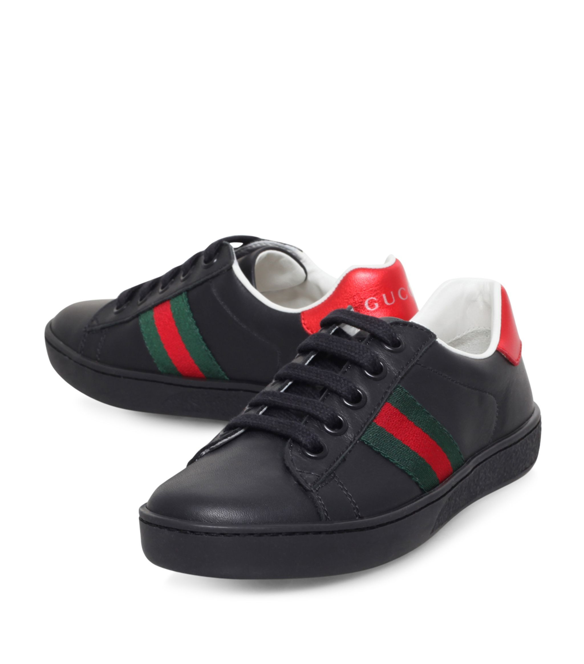 Gucci Kids New Ace Web Sneakers #AD