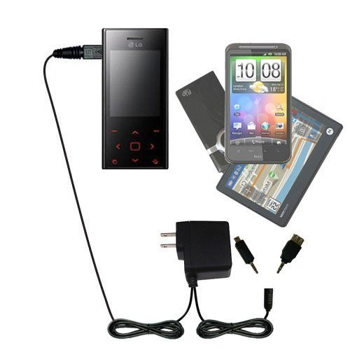 USB Power Port Ready design and uses TipExchange Gomadic compact and retractable USB Charge cable for LG Voyager