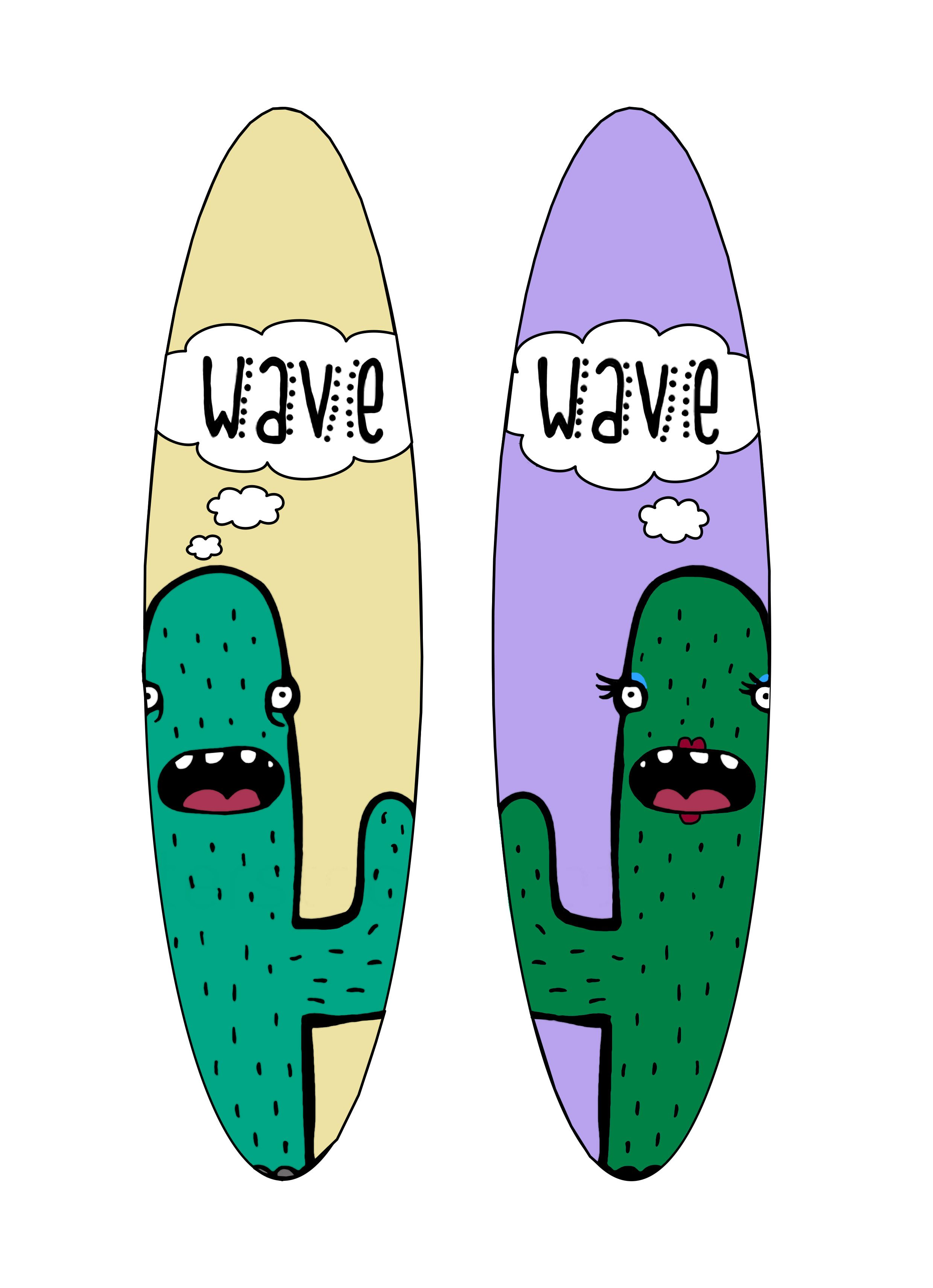 13th personal wave surfboard designs, using vectors and paintbrush tools
