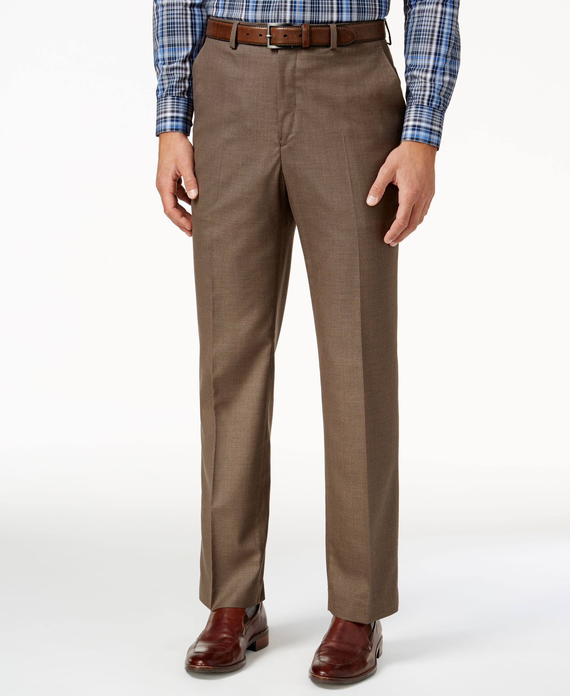 Joseph & Feiss Gold Classic Fit Dress Pants, Brown