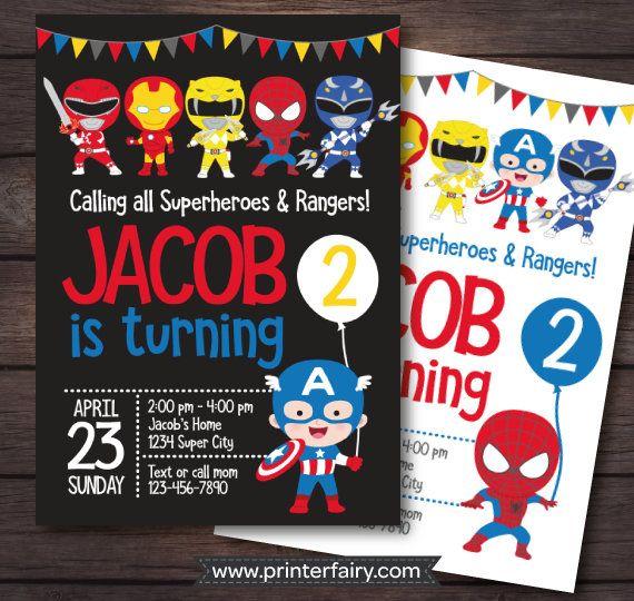 Power Ranger Birthday Invitation Power Rangers Birthday