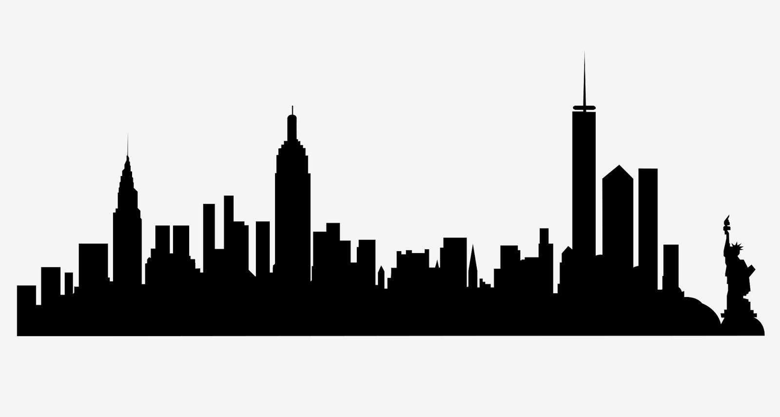 New York City Skyline Silhouette Free Svg Nel 2020 Sfondi Silhouette Grattacieli