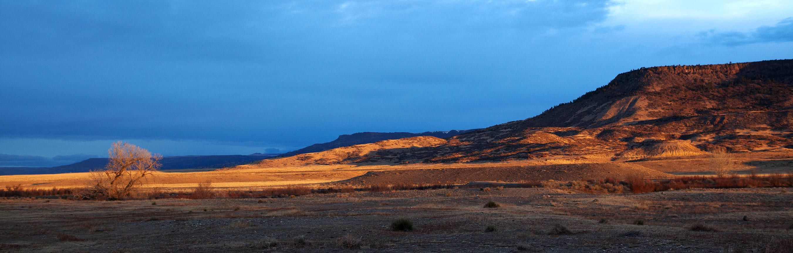Sunrise from along Hwy 87 near Raton, New Mexico looking west.