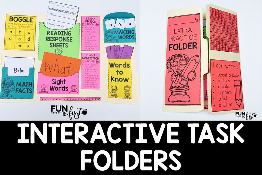 Interactive Task Folders Early finishers, Students and School