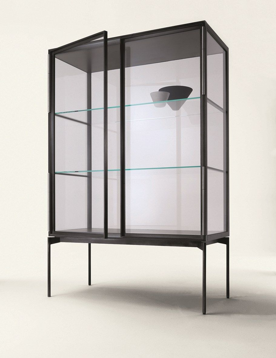 Glass And Aluminium Display Cabinet GALERIST By Lema Design Christophe  Pillet