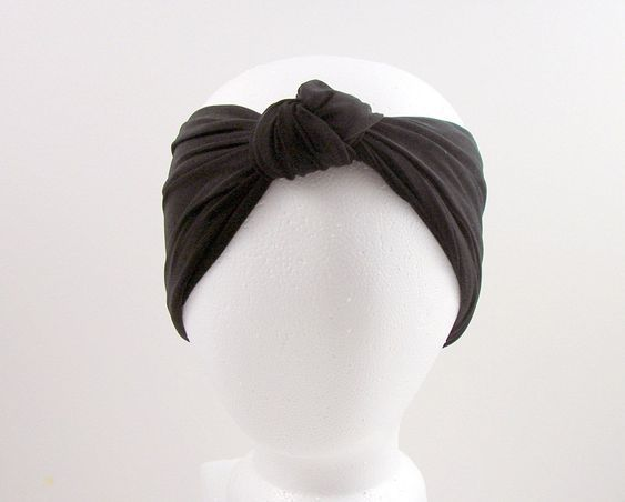 Custom Size Black Lycra Turban Head Wrap Womens Head Wrap Black Swim Head Wrap T...   - Knitting Headband Blog - #Black #Blog #Custom #Headband #Knitting #Lycra #size #Swim #Türban #Womens #wrap #headwrapheadband