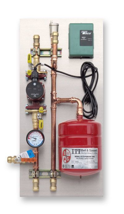 RHT Water Heater Pump Panel