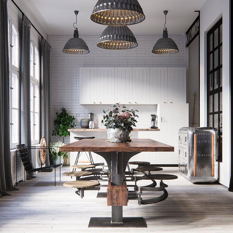 Come Arredare una Sala Da Pranzo in Stile Industriale