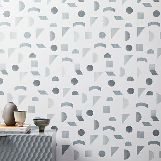 Mid Century Tile Wallpaper Tile Wallpaper Pottery Barn Kids Removable Wallpaper