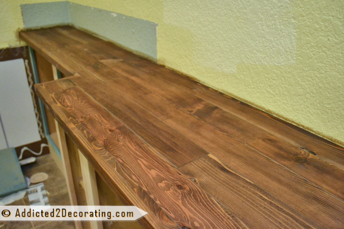 Diy Solid Wood Countertop Made From Cedar 2 By 4s