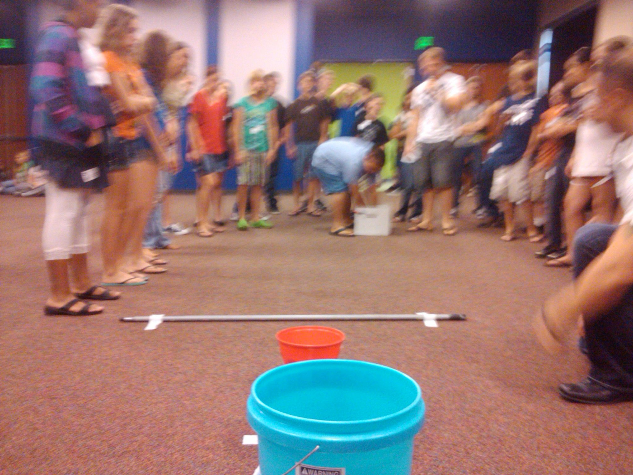 Minute To Win It 24 Tennis Balls Three Buckets Of Varied Height A Broomstick And Duct Tape Volunteers Gather Tennis B Tennis Balls Ball Minute To Win It