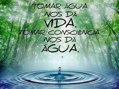 Tomar Água nos dá vida. Tomar consciência nos dá água.