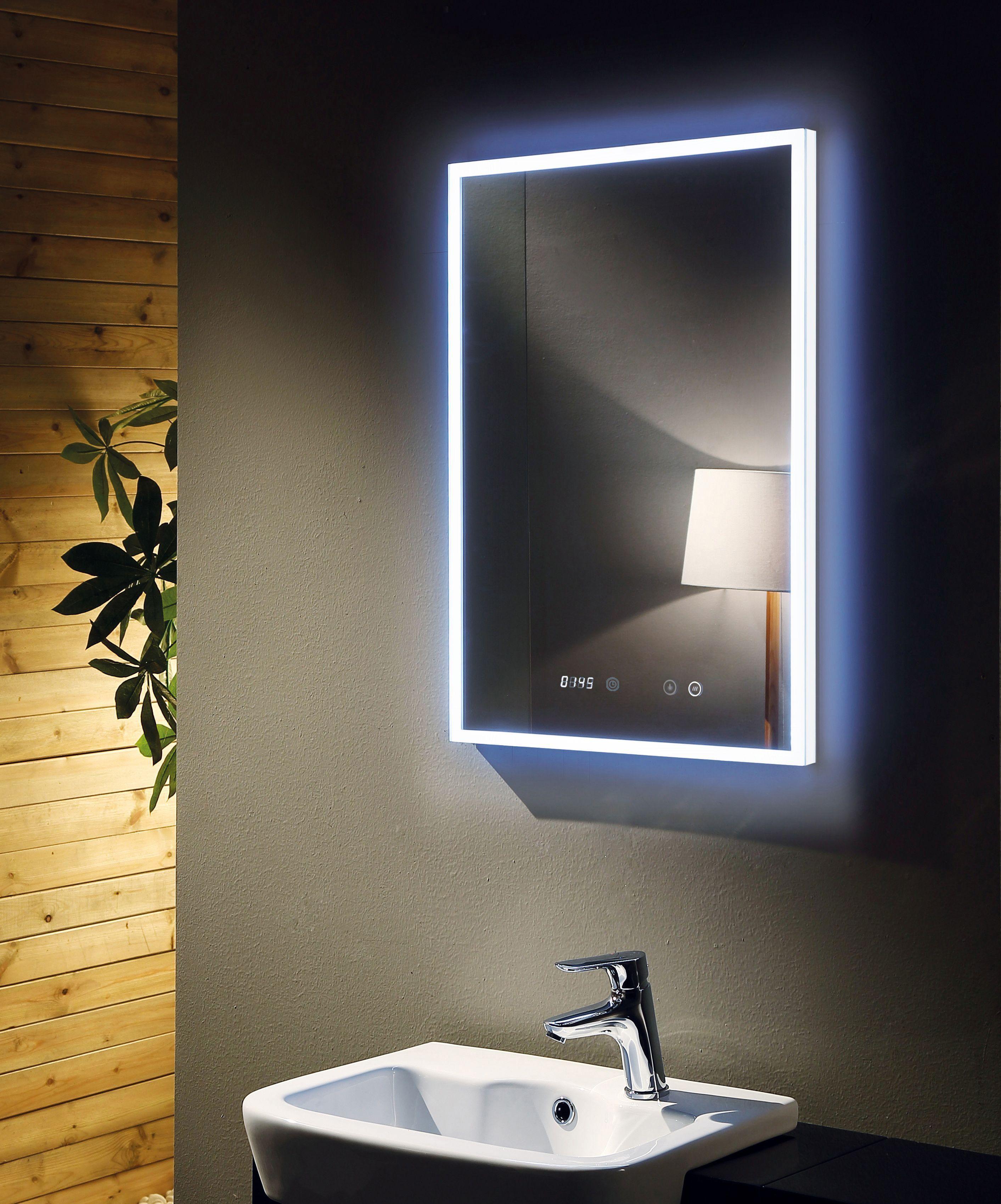 Backlit Mirror Remer Led Mirror Digital Clock Demister Pad Demister Mirror Smart Mirror Light Up A Mirror L Bathroom Mirror Elegant Bathroom Led Mirror
