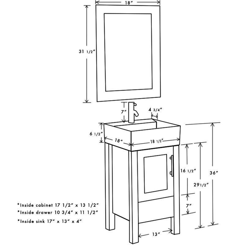 Searle 18 Single Bathroom Vanity Set With Mirror In 2021 Single Bathroom Vanity Bathroom Sink Design Vanity Set With Mirror