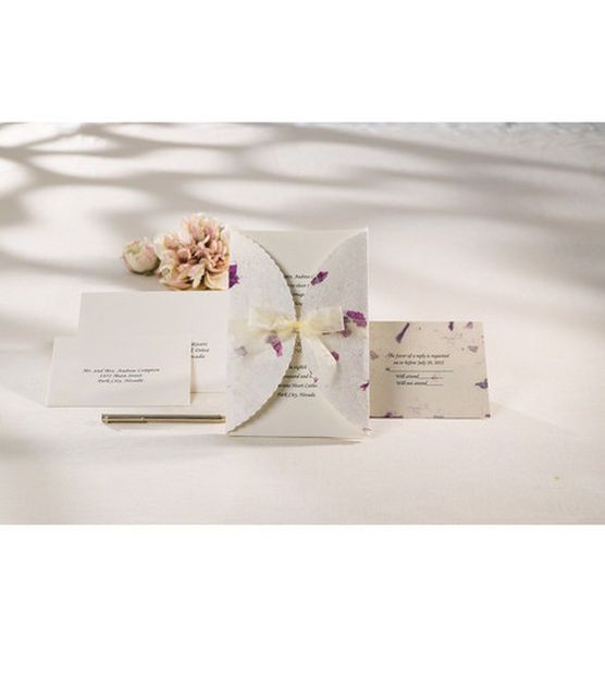 Wilton Wedding Invitation Kit Pressed Fl Lavender At