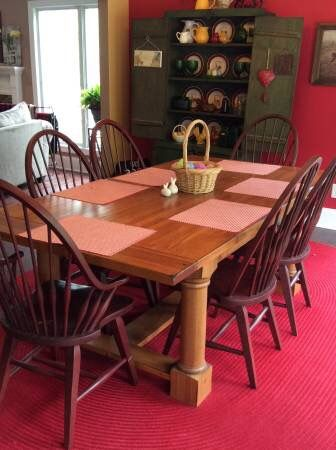 Broyhill Attic Heirlooms Trundle Table In Oak Stain And 4 Windsor Side Chairs And 2 Windsor Arm Ch Teak Outdoor Best Outdoor Furniture Outdoor Garden Furniture