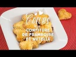 Petits cœurs à la confiture ou à la pâte à tartiner - CuisineAZ