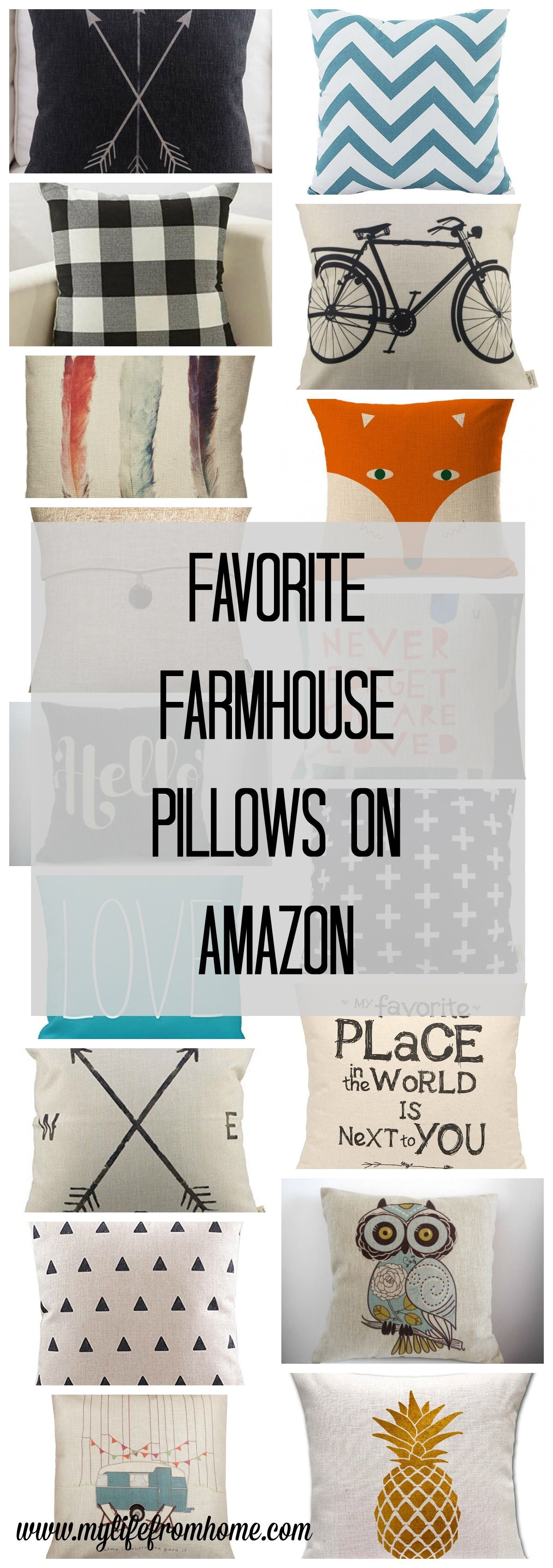 The best farmhouse pillows all under and available from amazon