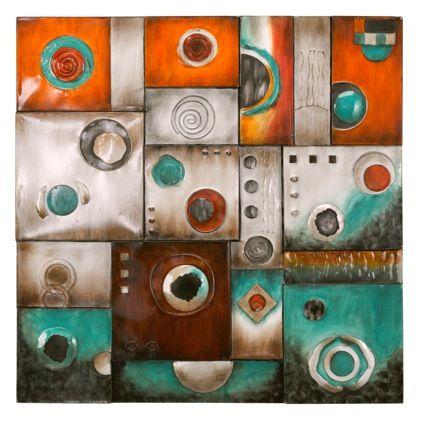 Circular abstract wall art
