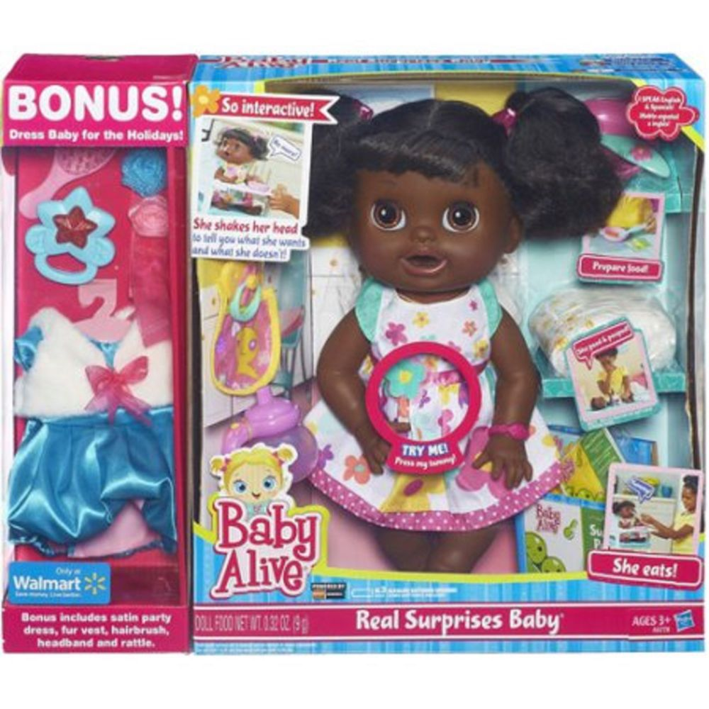 BABY ALIVE REAL SURPRISES DOLL INTERACTIVE AFRICAN
