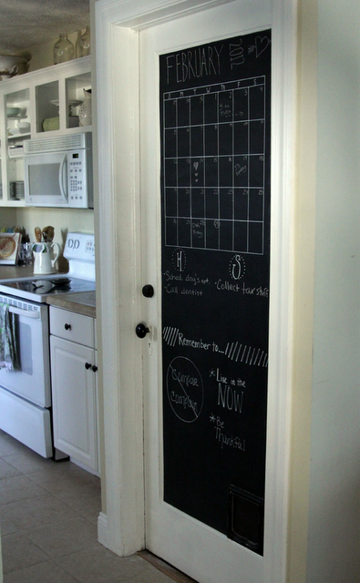 Diy Chalk Paint Door Chalkboard Door Chalkboard Pantry Doors Painted Doors